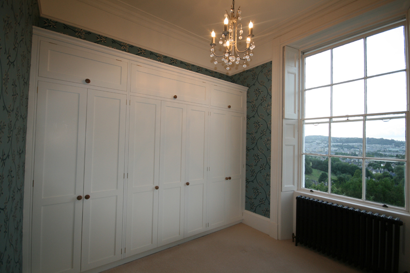 Bath Georgian Style Bespoke Painted Wall To Wall Wardrobes