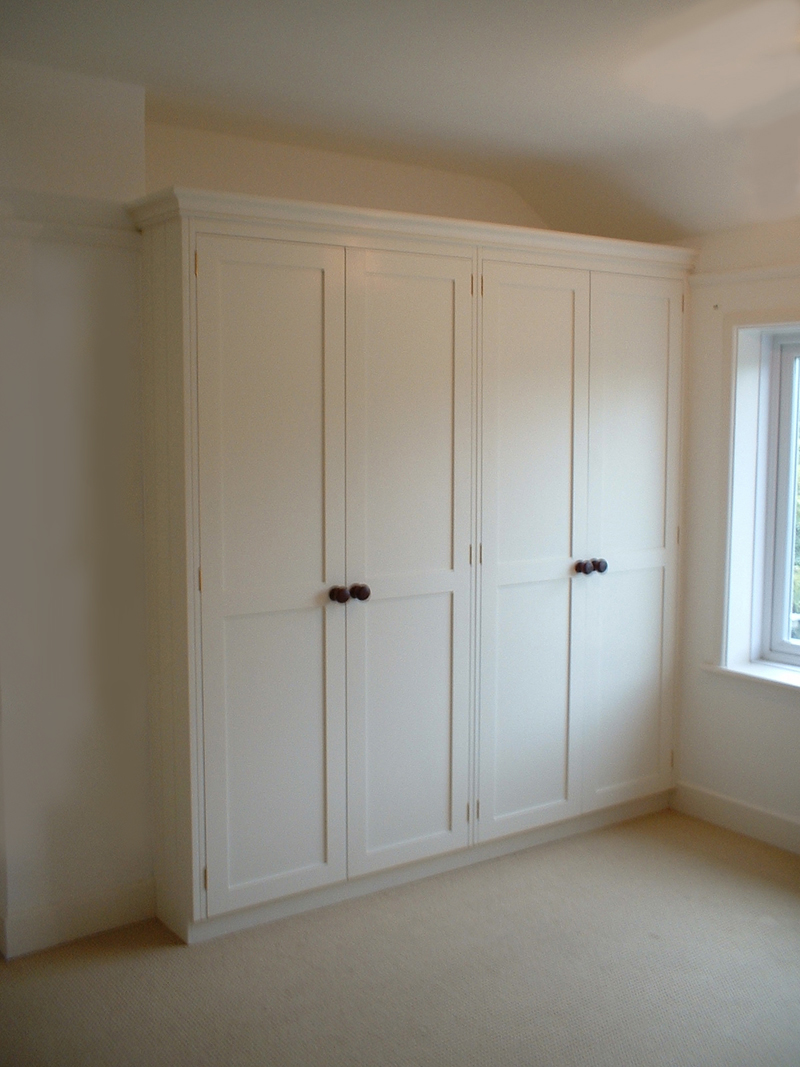 Hand Painted Bedroom Wardrobes With Pigeon Holes Enlargement 1