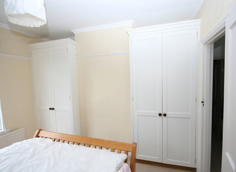 Bespoke Painted Alcove Wardrobes Enlargement 2