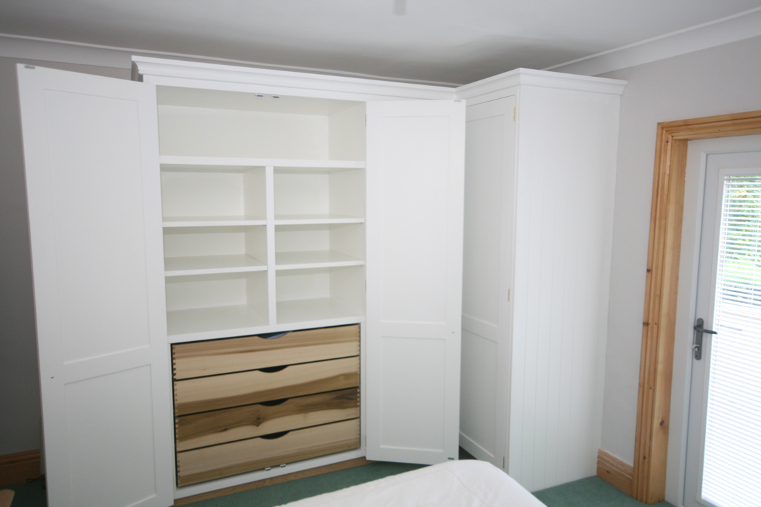 L Shaped Corner Wardrobes With Dovetailed Internal Drawers
