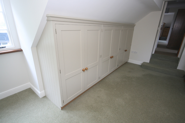 Attic Room With Pitched Roof Wardrobes