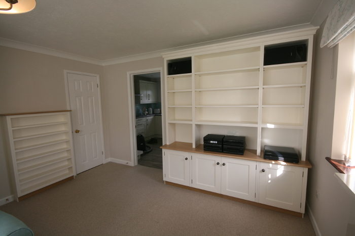 Bespoke Dresser Style Bookshelves Housing Stereo System With Cupboards For  LPu0027s And CD Cabinet, Yeovil