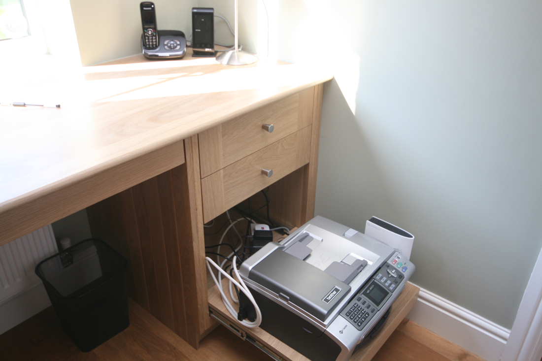 Printer Drawer In Oak Office Enlargement 3 Of 3